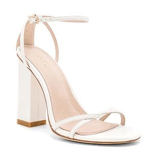 Raye the label white square heel sandals 6.5